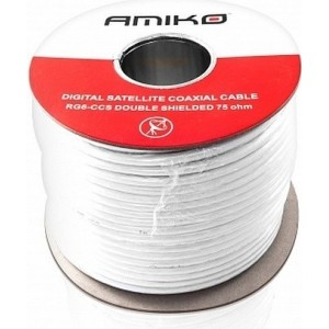 AMIKO koaxiálny kábel RG6 CCS DS - balenie 100m cievka
