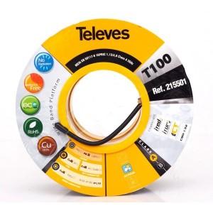 Vonkajší koaxiál TELEVES - cievka 100m