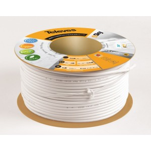 Koaxiálny kábel CU TELEVES 6,9 mm - cievka 100m