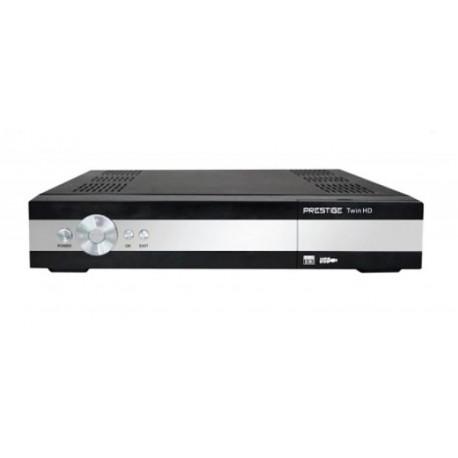 Satelitný prijímač S CI slotom a SCART výstupom Prestige TWIN