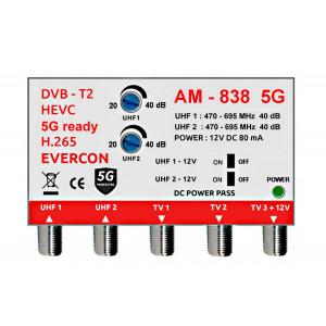 HEVC anténny zosilňovač Evercon AM-838 5G