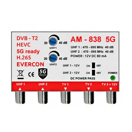 HEVC ant. zosilňovač Evercon AM-838