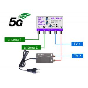 5G READY anténny set 20 dB EVERCON 424-101-2