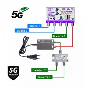 5G READY anténny set EVERCON 20 dB 424-101-3