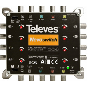 Multiswitch TELEVES TE-508 s reguláciou úrovne