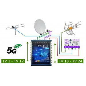 Anténny komplet DVB-T2 pre STA pre 24 účastníkov